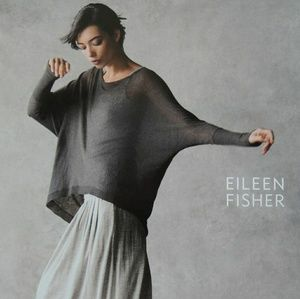 EUC Eileen Fisher Silver/Gray wide Boxy Knit